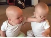 Clip Eva - Video: Ngộ nghĩnh 2 bé song sinh tranh nhau núm vú giả