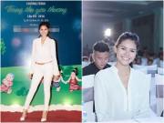 Làng sao - Á hậu Kim Nguyên trẻ trung, năng động đi làm đại sứ