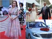 """Làng sao - Khánh Thi rạng ngời xuất hiện tại đám cưới """"tình cũ"""" Chí Anh và vợ 18 tuổi"""