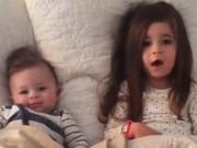Clip Eva - Chị gái bảo vệ em trai trước mẹ siêu dễ thương