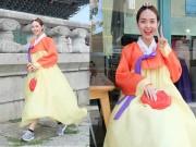 Thời trang - Minh Hằng gây tranh cãi khi diện hanbok với giày thể thao