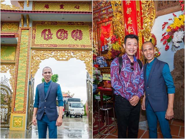 Vân Sơn, Minh Tâm Bùi trầm trồ, ngưỡng mộ trước nhà thờ Tổ của Hoài Linh