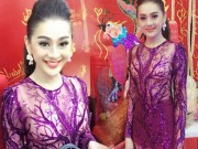 Thời trang - Thời trang sao Việt xấu tuần qua: Lâm Chi Khanh bị chỉ trích vì mặc xuyên thấu đi giỗ Tổ nghề