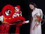 Thời trang - Thiếu nữ Việt lại rộ mốt chụp áo dài đón trung thu