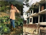 Làng sao - Hoàng Thùy Linh tự hào khoe căn nhà bố mẹ đang xây tại Tam Đảo