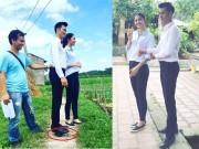 Thời trang - Hài hước hình ảnh MC Mạnh Tùng kê gạch khi đứng cạnh Á hậu Thanh Tú