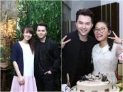Làng sao - Vợ 9x của Nam Cường bụng bầu 4 tháng rạng rỡ mừng sinh nhật chồng
