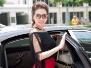 Thời trang - Hoa hậu Quý bà Bùi Thị Hà nổi bật với với tông đen - đỏ