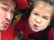 """""""Tan chảy"""" clip con gái Huy Khánh bắt mẹ phải xin lỗi bố"""