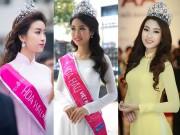 Thời trang - Những chiếc áo dài được khen hết lời của hoa hậu Đỗ Mỹ Linh
