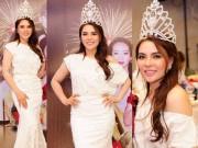 Thời trang - Á hậu Mai Phương Trang lộng lẫy với đầm trắng
