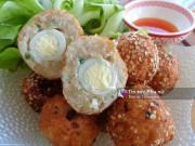 Bếp Eva - Chả cốm bọc trứng cút chiên giòn ngon tuyệt