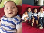 Làng sao - Con thứ 4 hơn 2 tháng tuổi của Lý Hải - Minh Hà ngày càng kháu khỉnh