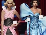 Thời trang - Moschino lại gây sững sỡ với mốt váy như đồ chơi giấy
