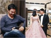 Khánh Hiền và bạn trai Việt kiều rạng rỡ đi thử trang phục cưới