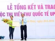 Tin tức - Viết về em bé Syria, cô gái Việt giành giải nhất UPU2016