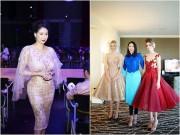 Hoa hậu Hà Kiều Anh đẹp lộng lẫy bên dàn người đẹp ngoại quốc ở Canada