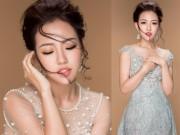 Hot girl Joxy Thùy Linh ngọt ngào như công chúa với đầm dạ hội