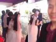 Eva Yêu - Clip cô dâu, chú rể hôn nhau liền 3 phút trong đám cưới gây tranh cãi