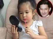 Làm mẹ - Con gái Huy Khánh 'rắp tâm' trang điểm cho bố thật... xấu