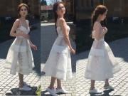 Thời trang - Ngọc Trinh thấp bé khó tin khi thiếu giày cao gót