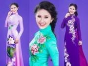 """Thời trang - """"Bông hồng lai"""" Diana Nguyễn duyên dáng áo dài cưới"""