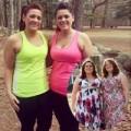 Làm đẹp - Chị em sinh đôi 28 tuổi giảm 40kg gây xôn xao