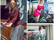 Thời trang - Thời trang xe đạp cực chất của sao Việt