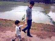 Làng sao - Vợ chồng Đăng Khôi đưa con trai về thăm quê ngoại