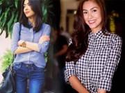 Thời trang - Chỉ quần jeans + áo sơ mi, Hà Tăng vẫn tỏa sáng!