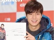 Làng sao - Lee Min Ho lộ mặt tròn xoe trong buổi ký tặng fan