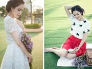 Thời trang - Á hậu Hoàng Anh gợi ý cách mặc vintage dịu ngọt