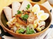 Bếp Eva - Cách nấu xôi gà hạt sen cho bữa sáng