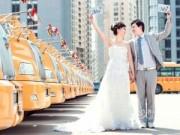 Tình yêu - Giới tính - Chụp ảnh cưới với xe bus trường học