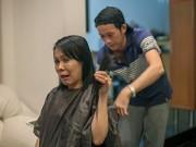 Làng sao sony - Hoài Linh tự tay cắt tóc cho Việt Hương