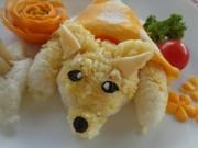 Bếp Eva - Làm cơm hình chú cún dễ thương cho bé