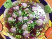 Bếp Eva - Canh chua hoa atiso đỏ với thịt mọc