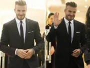 Làng sao - Beckham cực điển trai đi dự sự kiện tại Hà Nội