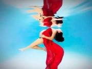 Mang thai 6-9 tháng - Mẹ Việt, mẹ Tây đều thích chụp hình bầu dưới nước