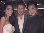 Làng sao - Hà Hồ thích thú khi được David Beckham khen