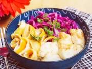 Bếp Eva - Nui xào ăn kèm cá lóc áp chảo ngon ơi là ngon