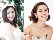 Làm đẹp - Tóc ngắn vẫn cực xinh như cô dâu Việt- Hàn