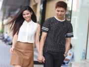 Hậu trường - Trương Quỳnh Anh nắm chặt tay chồng trên phố
