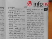 Tin tức - Thu hồi tám cuốn từ điển trên toàn quốc