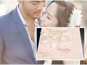 Làng sao - Ngắm thiệp cưới đơn giản, tinh tế của Quỳnh Nga