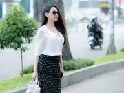 Làng sao - Trang Nhung bụng bầu 4 tháng xuống phố