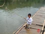 Giáo dục - Bám dây vượt suối Thia, 200 HS đối diện với hà bá để tới trường