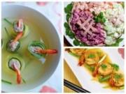 Bếp Eva - Thực đơn: Ngon miệng với tôm rim mắm me, salad su su