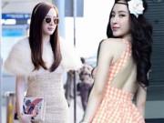 Thời trang Sao - Angela Phương Trinh điệu trên mức cần thiết tại sân bay