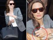 """Làng sao - """"Zoom"""" nhẫn cưới kim cương của Angelina Jolie"""
